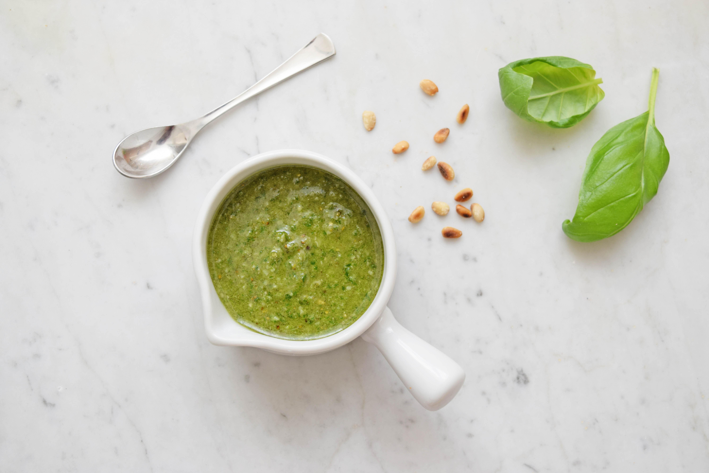 Pesto recept basilicum